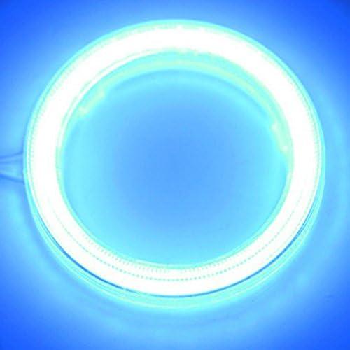 TABEN Cercles lumineux Angel Eyes /à Led COB 45SMD DC12 V 1 paire phares de voiture avec halo lumineux de 60 mm et 6500K et cache de protection