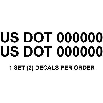 Amazon Com 1060 Graphics Usdot Numbers 2 Quot High X 20
