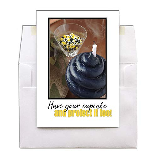 Have Your Cupcake and Protect It Too! - United States Army - Military Happy Birthday Greeting Card For Soldiers - Includes Envelope - 5