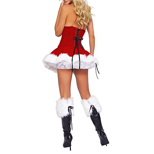 Interlink-UK Sexy Christmas Costumes Women Mrs Claus Velet Corset Santa Outfit Dress