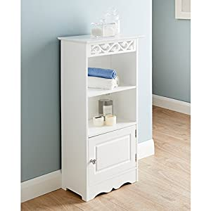 Camille Free Standing Two Shelves And 1 Small Door Bathroom Storage Unit New