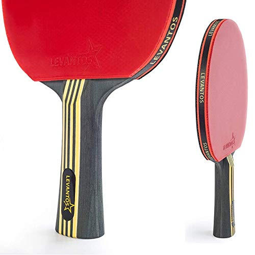 Levantos Premium Speed Control Carbon Table Tennis Ping Pong Racket Paddle ITTF