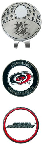 (Team Golf NHL Carolina Hurricanes Golf Cap Clip with 2 Removable Double-Sided Enamel Magnetic Ball Markers, Attaches Easily to Hats)