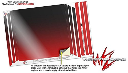 Wraptorskinz Ps4 Pro Skin Smooth Fades Red Black Decal