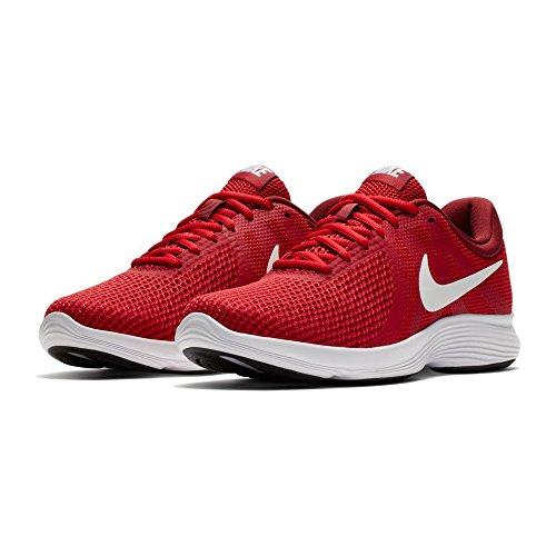 NIKE Men's Revolution 4 Gym Red/White Team Red Black Running Shoe 8 Men US