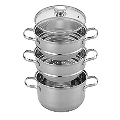 Cook N Home Stainless Steamer Double Boiler 4-quart Set Mirror Polished