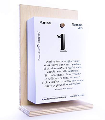 Calendario Filosofico 2020 Dove Si Compra.Calendario Filosofico Anno 2019 Con Base In Legno