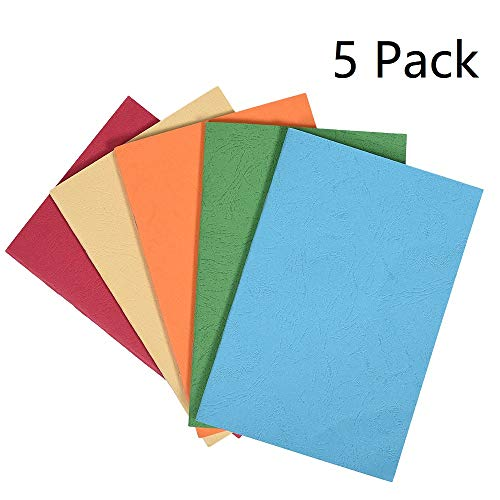 """5 Pack Colorful Soft Cover Writing Notebook Journal Diary Notebook Daily Notepad, Lined Pages, A5 Size, 8.3""""x 5.5"""", 30 Sheets/60 Pages by koboome"""