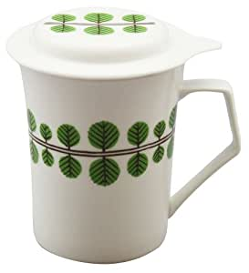 Forest ID-23-03 function with Ginger Mug (with tea strainer) grated green porcelain (japan import)