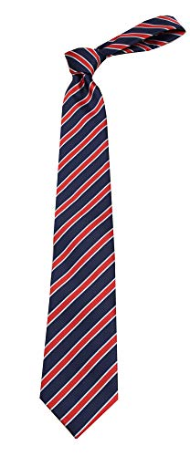 B-11701 - Boys Youth Navy Stripe Designer Necktie Ties