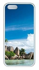 iPhone 5 5S Case Seychelles Islands Landscape TPU Custom iPhone 5 5S Case Cover White