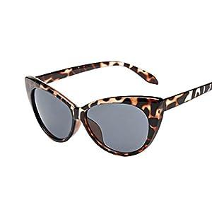 QingFan Women Men Summer Aviator Retro Cat Eye Glasses Unisex Fashion Sunglasses Kids Metal Frame (A, 70)