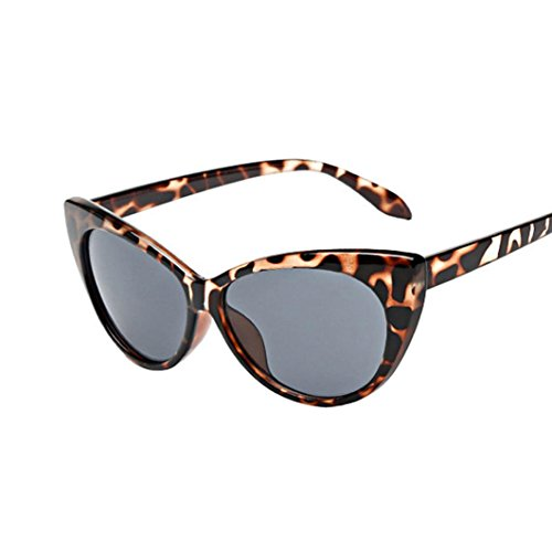 QingFan Women Men Summer Aviator Retro Cat Eye Glasses Unisex Fashion Sunglasses Kids Metal Frame (A, - Sale For Eyeglass
