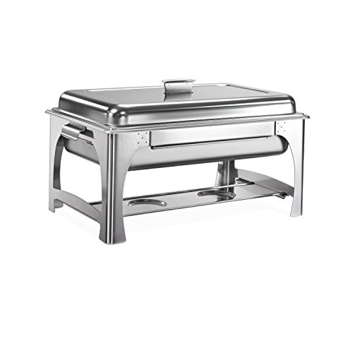 Tramontina 80205/520DS Pro-Line NSF-Certified Made in Brazil tainless Steel Chafing Dish, 9 Quarts, Heat Preserving Pan ()