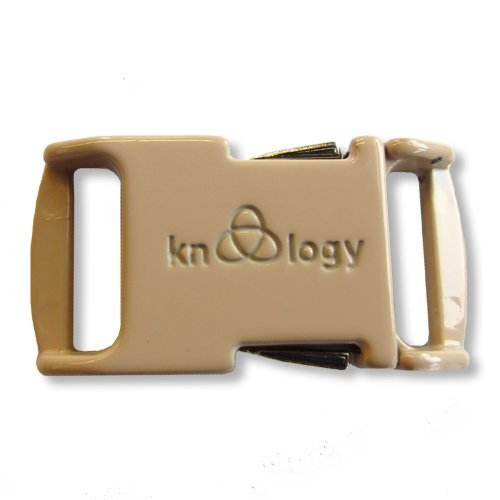 Knottology 1/2 Inch Spring Assisted Full Metal Nito Buckles (Tan) - Full Metal Buckle