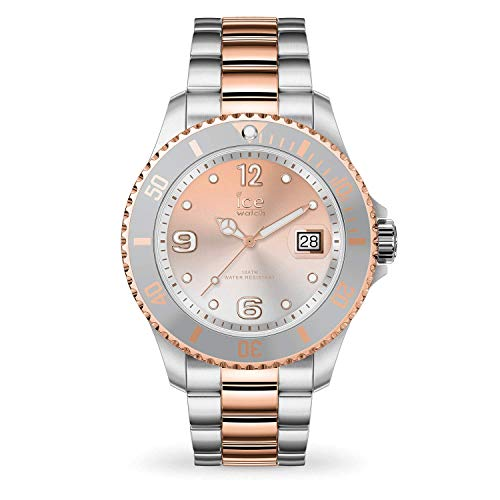 (Ice-Watch Ice Steel Silver Sunset Rose Gold Stainless Steel Women's Watch 016769)