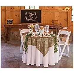 50''x50'' Square Copper Sequin Tablecloth Select Your Color & Size Can Be Available ! Sequin Overlays, Runners, Gatsby Wedding, Glam Wedding Decor, Vintage Weddings (Copper)