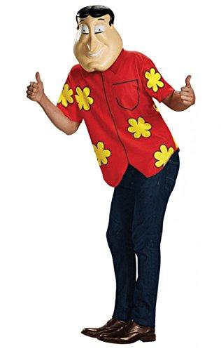 Disguise Men's Quagmire Deluxe Teen Costume, Multi, Medium