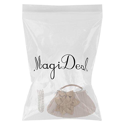 MagiDeal Monedero Elegante Cartera Bolso de Mano para Tarde Sobre Hueco Cadena de Hombro Bolso Clutch de Moda Albaricoque