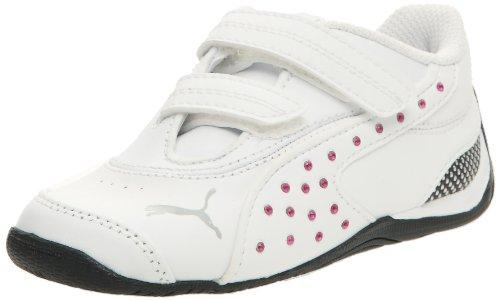 Puma Kids Dr Cat Iii Diams, Unisex-Kinder Sneakers Blanc/Blanc/Beetroot Purple
