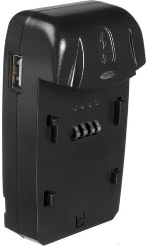 Watson Compact AC//DC Charger Kit with Battery Adapter Plate for NB-11L