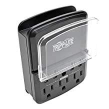 Tripp Lite 4-Port Wallmount USB Charging Station, 3 Outlet Surge Protector Direct Plug-In 4.8A