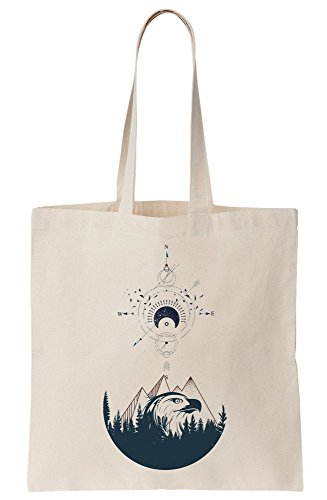 Tote Drawing Hipster Compass Of Canvas Bag q77rIwC