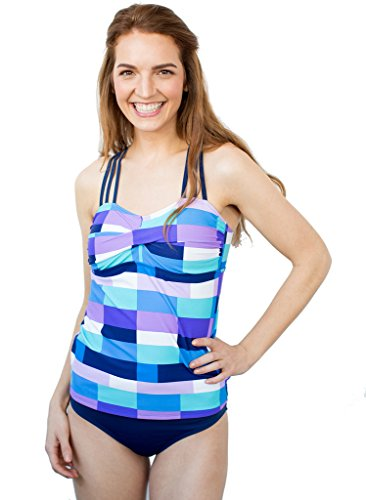 Triple-Strap Patch Tankini Top