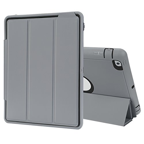 TKOOFN iPad 2/3/4 Case Drop Protection Rugged Protective Heavy Duty Shockproof iPad Case with Auto Wake/Sleep Smart Cover with Stand for iPad 2/3/4 (Black)