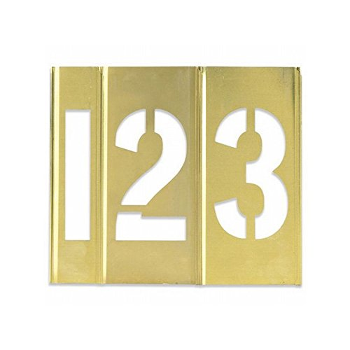 Box Packaging Number Only Brass Stencils, 1'' - 15 Pieces per Case by Box Packaging (Image #1)