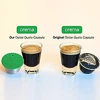 i Cafilas 2 Filtros Cápsulas de Café Puede Rellenar reutilizar para Dolce Gusto Cafetera Fuerte al Menos 160 Veces de usos para reemplazo,2 pcs con 1 ...