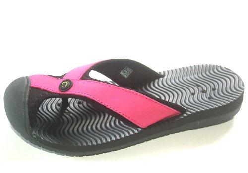 UNICUTE Women's Beach Water Thong Flip Flop Sport Sandals 20901 Pink Size EU 40 / US (Ladies Womens Sport Thong Sandals)