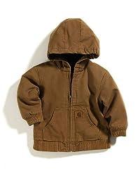 Carhartt Little Boys' Toddler Active Jacket, Carhartt Brown, 3T