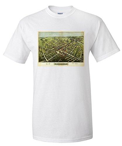 westfield-massachusetts-panoramic-map-white-t-shirt-x-large