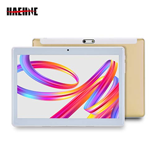 Haehne 10.1 Inches Tablet PC, Google Android 4.4 GSM WCDMA 3G Phablet, HD 1280*800P Capacitive Screen, Quad Core 1.3GHz…