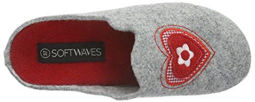 Softwaves Damen Hausschuh Pantoffeln Grau (220 LT. GREY)