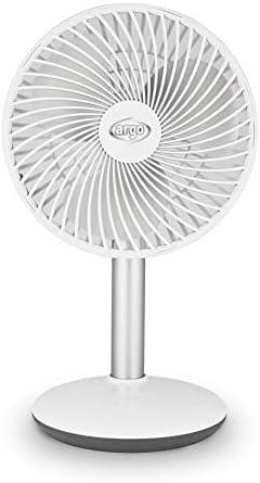 Argo ORFEO Ventilatore Portatile Senza Fili Soft-Touch 4 Velocità