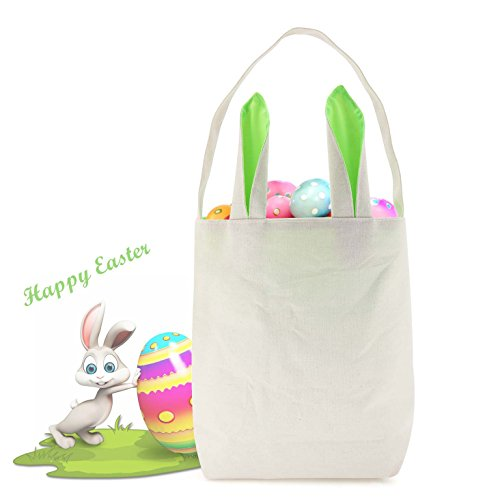 Tonos buy tonos products online in uae dubai abu dhabi big sale easter bags with bunny ears design for easter egg huntting party carry gifts eggs personal items stylish cotton easter bunny bag green negle Gallery