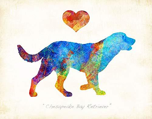 CHESAPEAKE BAY RETRIEVER Dog Watercolor Art Print by Dan Morris