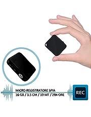 H+Y Mini Registratore Vocale, Registratore Vocale Portatile 16GB, Ricaricabile USB, MP3, Registratore Audio con Attivazione Vocale Ideale per Lezioni, Riunioni, Interviste, Colloqui, Fino a 284 Ore