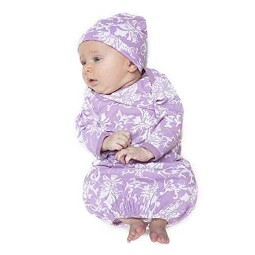 (Baby Be Mine Newborn Gown and Hat Set (Newborn 0-3 Months, Helen))