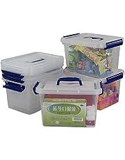 Morcte 6 L Plastic Storage Box, Clear Latch Storage Box, 6-Pack