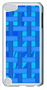 Abstract Blue Stripes Custom iPod Touch 5/Apple iPod 5 Case Cover Polycarbonate White
