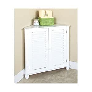 White corner shutter storage cabinet corner for Amazon kitchen cabinets