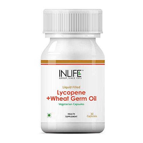 INLIFE Lycopene plus Wheat Germ Oil Supplement - 30 Liquid Filled Vegetarian Capsules (30 Filled Liquid Capsules)