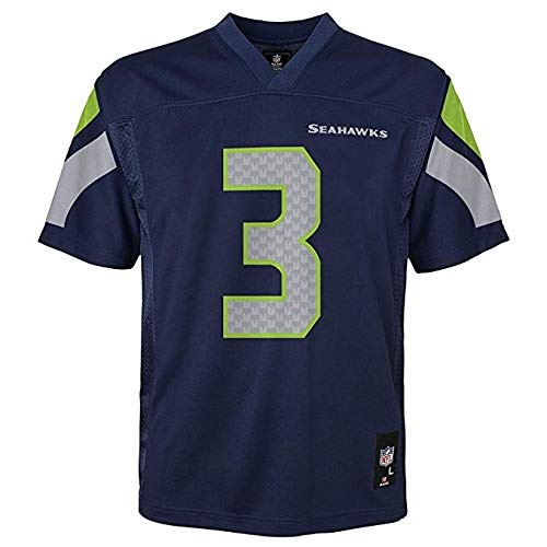 (Russell Wilson Seattle Seahawks NFL Youth Navy Home Mid-Tier Jersey (Youth Large 14-16))