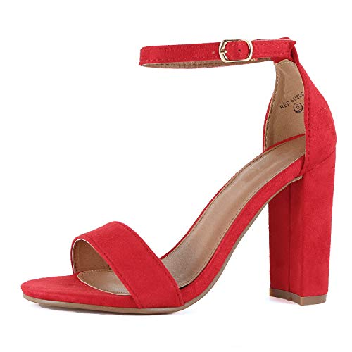 Guilty Shoes - Shirley-1 Red Suede, 7.5