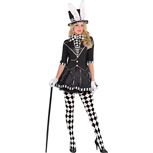 AMSCAN Dark Mad Hatter Halloween Costume for Women, Medium, with Included Accessories -