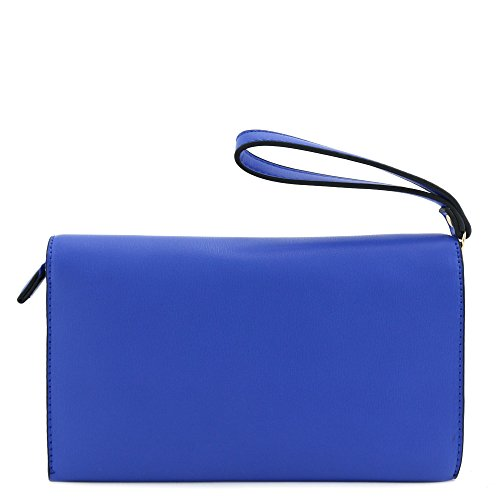 Purse Crossbody Envelope Blue Bag Dark Clutch qY7ZxF