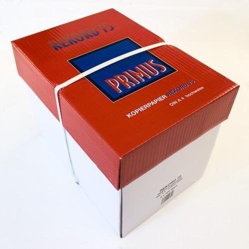 2500 Blatt Markenware Kopierpapier Primus Rekord 75 EXTREM WEISS